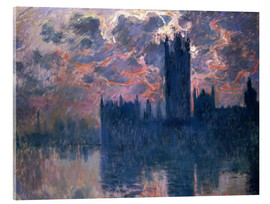 Acrylglasbild  Houses of Parliament, Sonnenuntergang - Claude Monet