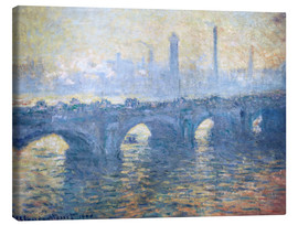 Leinwandbild  Fluss Themse in London, Waterloo Bridge - Claude Monet