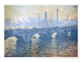 Premium-Poster  Fluss Themse in London, Waterloo Bridge - Claude Monet