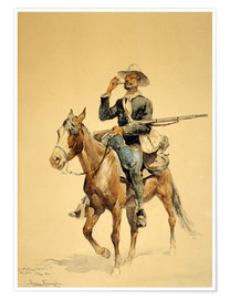 Poster  A Mounted Infantryman, 1890 - Frederic Remington