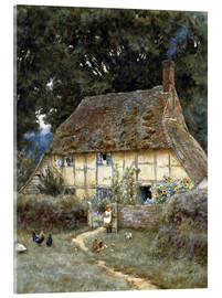 Acrylglasbild  An der Brook Road bei Witley - Helen Allingham