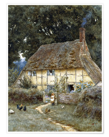 Premium-Poster  An der Brook Road bei Witley - Helen Allingham