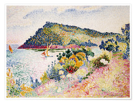 Premium-Poster  Am Black Cape, Pramousquier Bay - Henri Edmond Cross