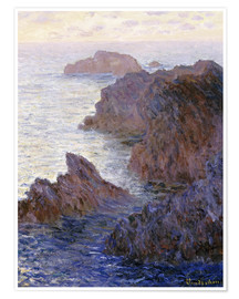 Premium-Poster  Point de Rochers, Port-Goulphar - Claude Monet