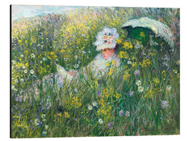 Alubild  In der Wiese - Claude Monet