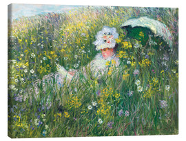 Leinwandbild  In der Wiese - Claude Monet