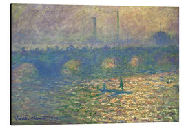 Alubild  Waterloo Brücke - Claude Monet