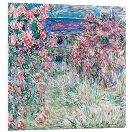 Hartschaumbild  Garten in Giverny - Claude Monet