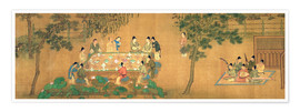 Poster  Scholars' Gathering in a Bamboo Garden - Chinese School
