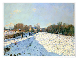 Premium-Poster  Schnee in Argenteuil - Alfred Sisley