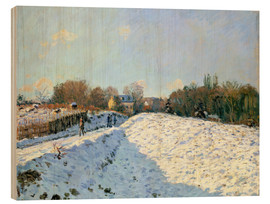 Holzbild  Schnee in Argenteuil - Alfred Sisley