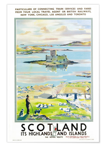 Premium-Poster Scotland, it's Highlands and Islands