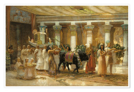 Frederick Arthur Bridgman - The Procession of the Sacred Bull, Apis, c.1879