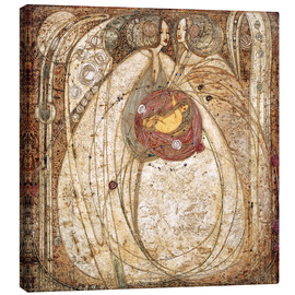 Leinwandbild  Das Herz der Rose - Margaret MacDonald Mackintosh