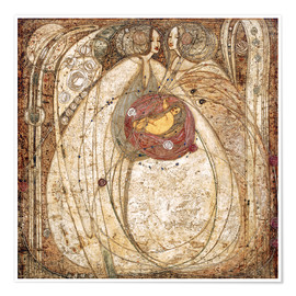 Premium-Poster  Das Herz der Rose - Margaret MacDonald Mackintosh