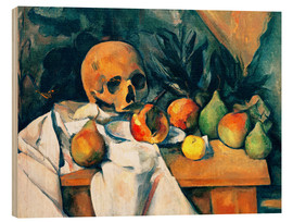 Holzbild  Nature morte au crâne - Paul Cézanne