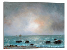 Alubild  Sonnenaufgang am Meer - Gustave Courbet