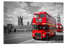 Melanie Viola - Westminster Bridge and Red Buses