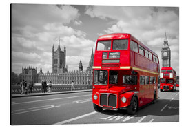 Alubild  Westminster Bridge and Red Buses - Melanie Viola