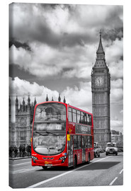 Leinwandbild  Big Ben and Red Bus - Melanie Viola