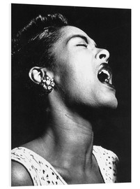 Hartschaumbild  Billie Holiday