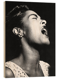 Holzbild  Billie Holiday