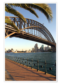 Premium-Poster Sydney Harbour Bridge
