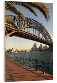 Holzbild  Sydney Harbour Bridge  - David Wall