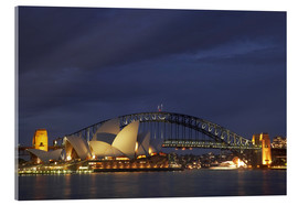 Acrylglas  Oper von Sydney und Harbour Bridge - David Wall