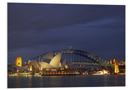 Hartschaumbild  Sydney Oper und Harbour Bridge - David Wall