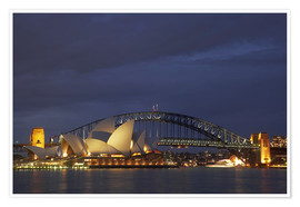 Premium-Poster  Oper von Sydney und Harbour Bridge - David Wall
