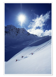 Premium-Poster  Heliskiing im Mount Cook National Park - James Kay