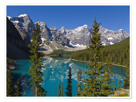 Premium-Poster  See vor den Canadian Rockies - Paul Thompson