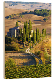 Holzbild  Belvedere-Haus in San Quirico - Terry Eggers