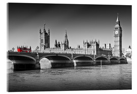 Acrylglasbild  Westminster Bridge and Bus - Melanie Viola
