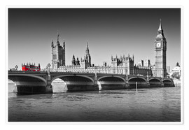 Premium-Poster Westminster Bridge and Bus