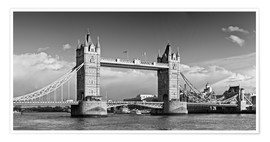 Premium-Poster Tower Bridge black and white