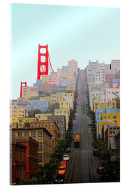 Acrylglasbild  San Francisco und Golden Gate Bridge - John Morris
