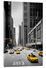 Acrylglasbild  New York Yellow Cabs - Michael Haußmann