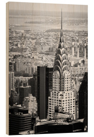Holzbild  Chrysler Buildung in New York City - Michael Haußmann
