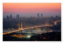 gn fotografie - Bosporus-Bridge at Night (Istanbul / Turkey)