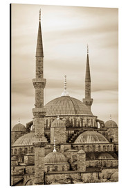 Alubild  the blue mosque in sepia (Istanbul - Turkey) - gn fotografie