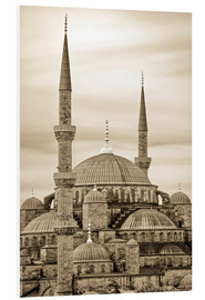 Hartschaumbild  the blue mosque in sepia (Istanbul - Turkey) - gn fotografie