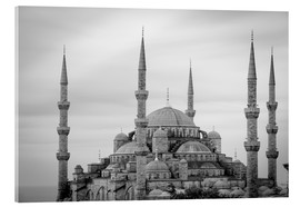 Acrylglasbild  the blue mosque in Istanbul / Turkey - gn fotografie