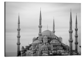 Alubild  the blue mosque in Istanbul / Turkey - gn fotografie