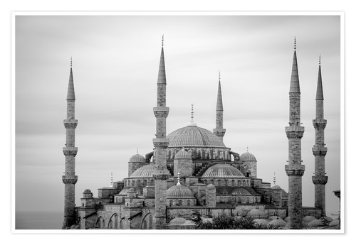 Premium-Poster the blue mosque in Istanbul / Turkey