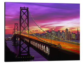 Alu-Dibond  Oakland Bay Bridge und San Francisco Skyline - Paul Thompson