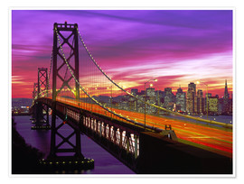 Premium-Poster Bay Bridge in San Francisco