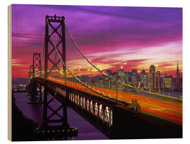 Holzbild  Bay Bridge in San Francisco - Paul Thompson