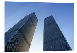 Acrylglasbild  Twin Towers des WTC - Sue Cunningham